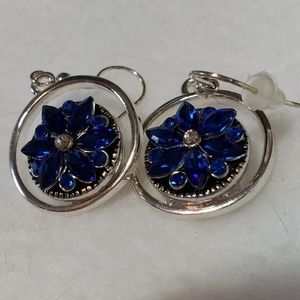 Sparkly Blue Earrings